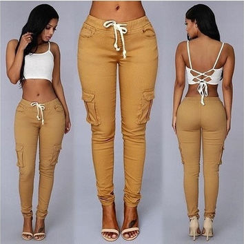 New Sexy Women Denim Skinny Pants High Waist Stretch Jeans Slim Pencil Trousers [9221782212]