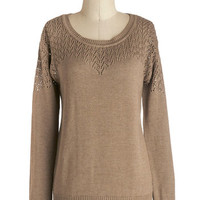 Cinnamon Roll Hug Sweater in Taupe