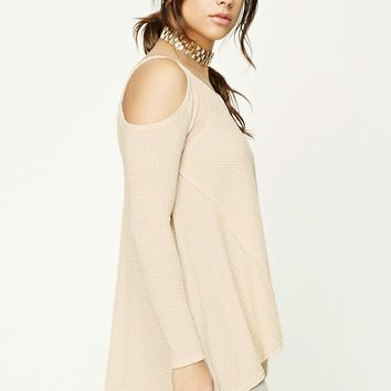 Open-Shoulder V-Neck Top