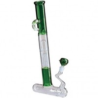 Black Leaf - Stemless Inline Perc Tube - 6-arm Perc - Green - Glass Bongs - Bongs and Waterpipes - Smoking Pipes - Grasscity.com