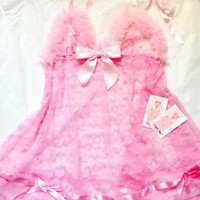 Sheer Love Feather Babydoll