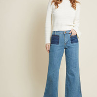 Wrangler x MC Wide-Leg Whim Jeans in Stone Wash - 33 in.