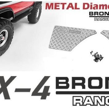 Metal tail  body scraper  BRONCO Fordd  For 1/10 Scale TRX4 T4 TRAXXAS D110 Defender  TACTICAL UNIT CRAWLER
