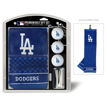 Los Angeles Dodgers Golf Gift Set with Embroidered Towel