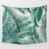 Palms Wall Tapestry by Vin Zzep