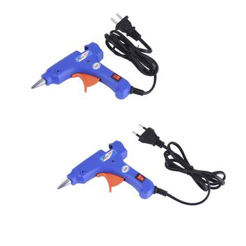 1Pc 20W EU/US Plug Hot Melt Glue Gun 7mm Glue Stick Industrial Mini Guns Thermo Electric Gluegun Heat Temperature Tool
