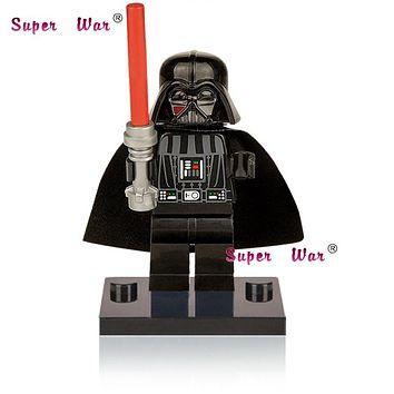 Single Sale star wars superhero marvel avengers Darth Vader building blocks action sets model bricks toys for children