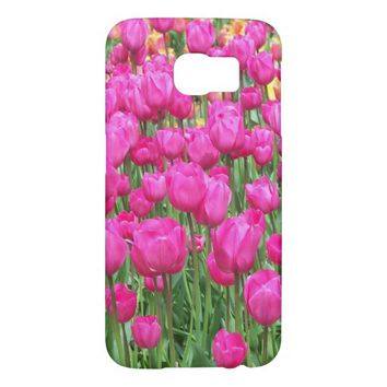 Pink Tulips Floral Samsung Galaxy S6 Cases