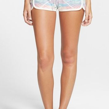 Junior Women's Rip Curl 'Paradise City' Tropical Print Knit Shorts,