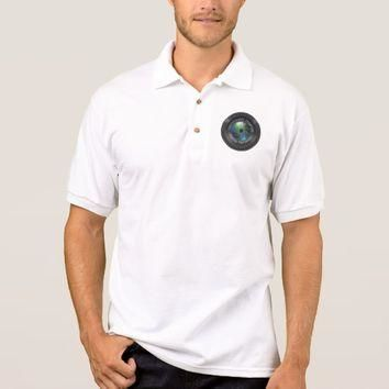 Photographer And Photography Business Camera Lens Polo Shirt
