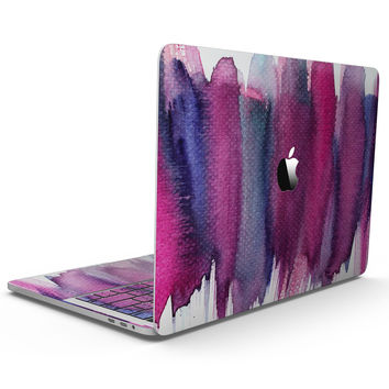 Violet Mixed Watercolor - MacBook Pro with Touch Bar Skin Kit