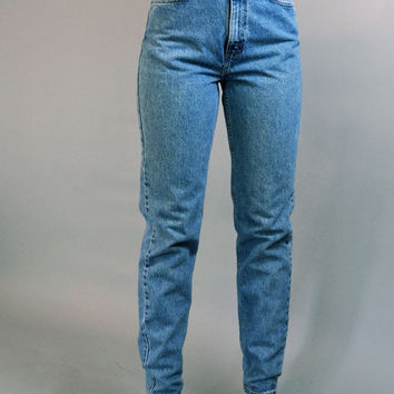 80s Vintage Levis / high waist jeans / Distressed LEVIS 512 denim vintage blue jeans / slim fit Skinny Taper Legs 26 Waist
