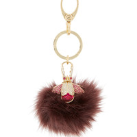 Beetle Buggy Faux Fur Key Fob