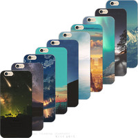 5/5S SE 4'' Painting Multipeaked Mountains TPU Cover For Apple iPhone 5 SE iPhone 5S Cases Case For Phone5S Phone Shell