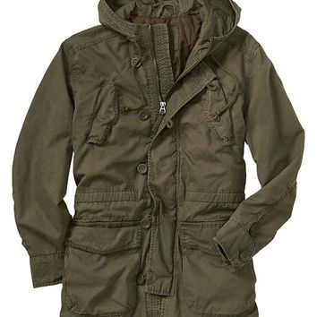 Gap Men Factory Hooded Utility Jacket