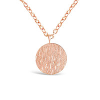 Rose Gold Minimalist Round Plate Necklace