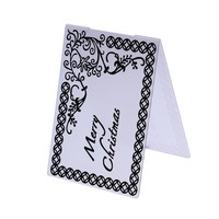 1pcs Plastic Embossing Folders Paper Card Template Stencils Scrapbooking Photo Album Decoration DIY Craft Decor
