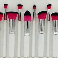 Amazon.com: Beau Belle Kabuki Brush Set 10pcs Makeup Brushes Professional Makeup Brushes