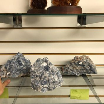 Large Blue Calcite Crystal Specimens from Mexico | Natural Calcite Crystal Healing Crystal