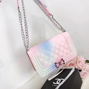 """CHANEL"" Latest Rainbow Series Tote Bag"