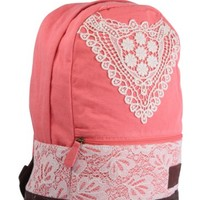 Fashion Blue Backpack with Crochet