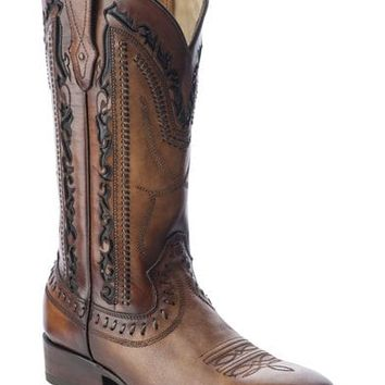 Corral Men's Laser Cut Whip-Stitch Western Boots