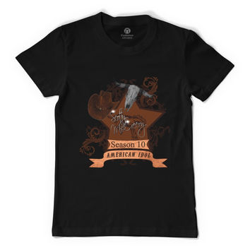 Scotty McCreery Country Style Season 10  Bull Skull Men's T-shirt
