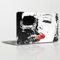 Marilyn Half Skull Laptop & iPad Skin by Ilola