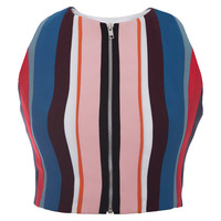 Silk Striped Crop Top | Moda Operandi