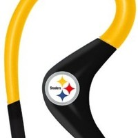 iHip NFSE82PS NFL Sport Ear Buds with In-Line Microphone - Pittsburgh Steelers Yellow/Black