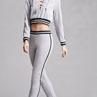 Striped Velvet Sweatpants