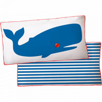 Blue Whale Reversible Pillow