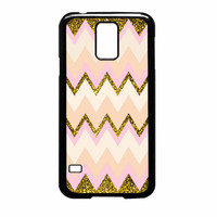 Gold Pink Chevron Samsung Galaxy S5 Case