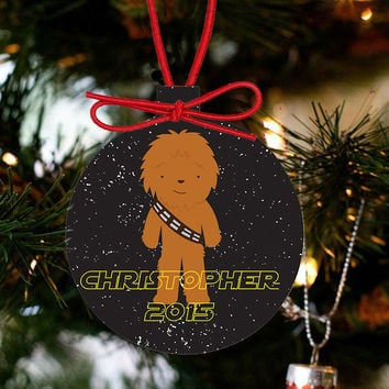 Personalized Christmas Star Wars Ornament - Chewbarka