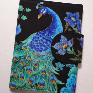 Kindle Cover, Kindle Fire cover, Kindle Touch cover, eReader Cover Book Style, Peacock