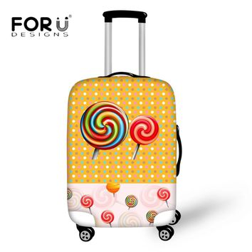 FORUDESIGNS Cartoon Candy Pattern Luggage Cover Thick Elastic Case Protective Covers for 18''-30''Trolley Case Dust Rain Cover