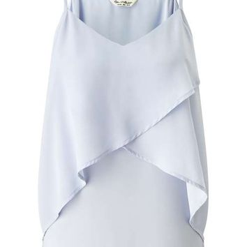 Blue Frill Overlay Cami - New In