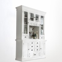 Halifax French Countryside Kitchen Hutch Unit White Semi-gloss