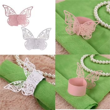 Our favorite 50PCS Butterfly Napkin Ring Paper Holder Table Party Wedding Favors Banquet Hot