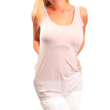 Chaser LA Dual Layered Tank Grey