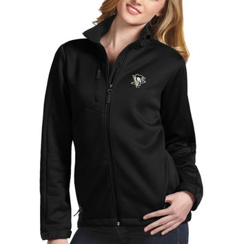 Pittsburgh Penguins Antigua Traverse Full-Zip Jacket – Black