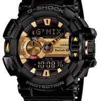 Casio Mens G-Shock - G-Mix App - Bluetooth Smart Enabled - Black & Gold