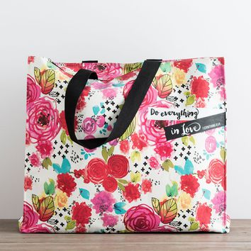 Illustrated Faith - Do Everything in Love - Canvas Tote Bag