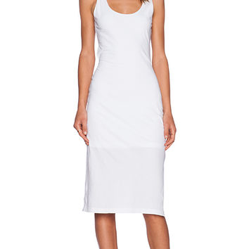 Bobi Supreme Jersey Midi Dress in White