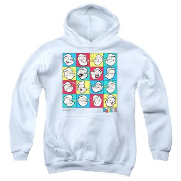 Popeye - Color Block Youth Pull Over Hoodie