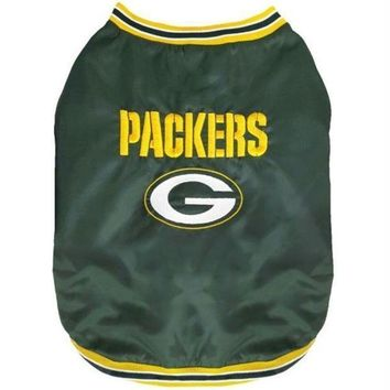 CREYYW9 Green Bay Packers Pet Sideline Jacket