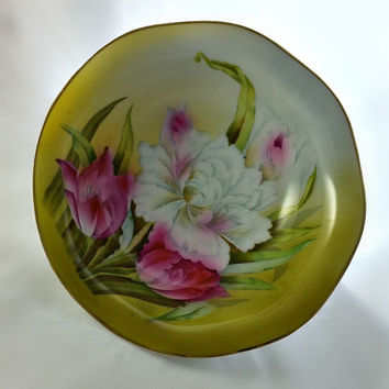 Vintage Floral Fruit Bowl - Bavarian Hand Painted Fruit Bowl - German Fruit Bowl - Vintage Porcelain Bowl - Floral Fruit Dish