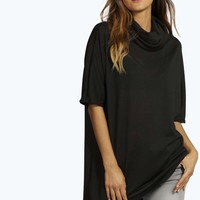 Sienna Cowl Neck Boxy Knitted Tee
