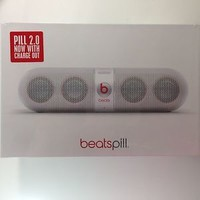 SEALED NEW Genuine Apple Beats Pill 2.0 Bluetooth Wireless speaker Dr.Dre White