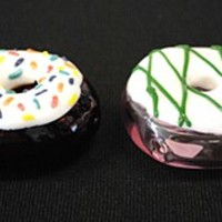 Hand Blown Glass Donut Pipe